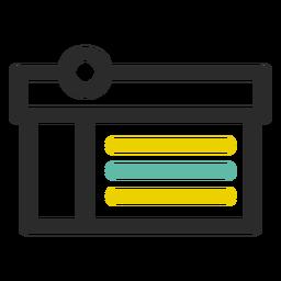 Icono de cuadro de compras