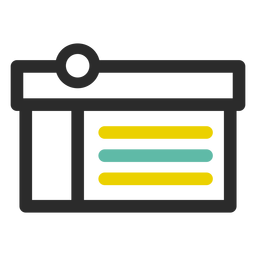 Icono de trazo de caja de compras