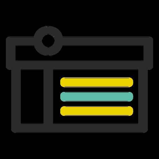 Symbol für Einkaufskastenstrich Transparent PNG
