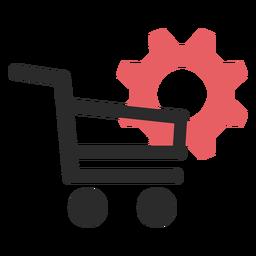 Ícone de traço colorido de configurações de compras