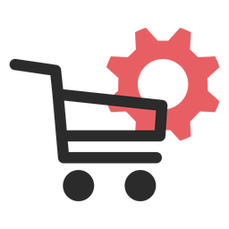 Shopping settings colored stroke icon