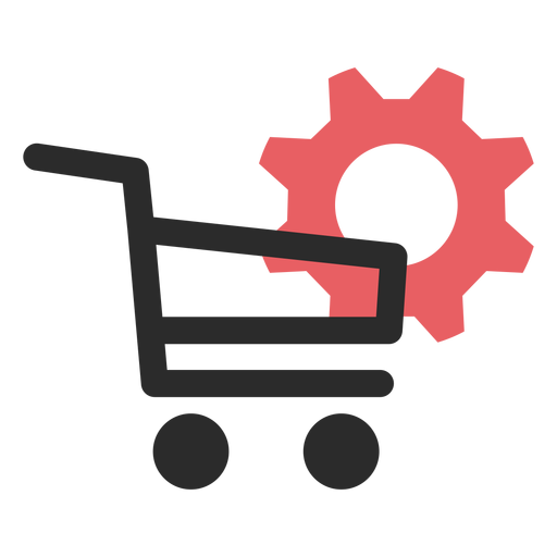 Shopping settings colored stroke icon Transparent PNG