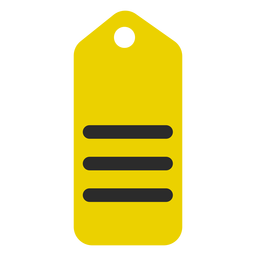 Etiqueta de compras icono de trazo de color