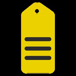 Ícone de traço colorido marca de compras