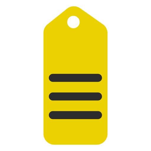 Shopping tag colored stroke icon Transparent PNG