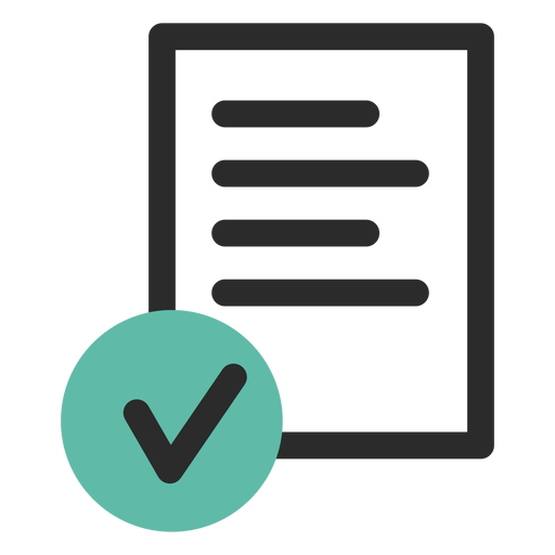 Signed contract icon Transparent PNG