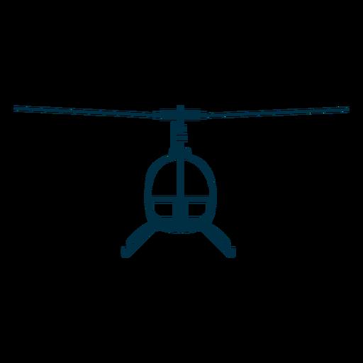 Helicóptero asiento único frente silueta. Transparent PNG