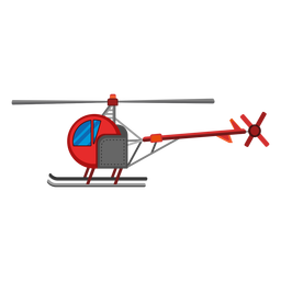 Icono de helicóptero de asiento único