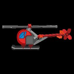 Icono de helicóptero de un solo asiento