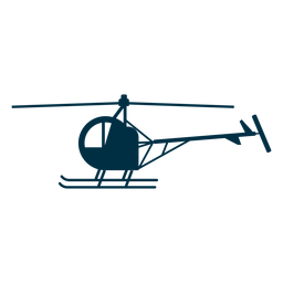 Single seat helicopter silhouette