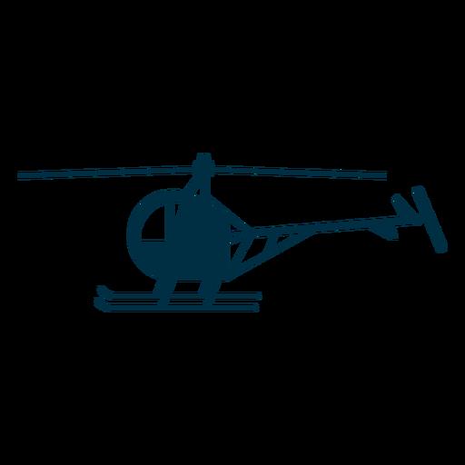 Silueta de helicóptero de un solo asiento. Transparent PNG