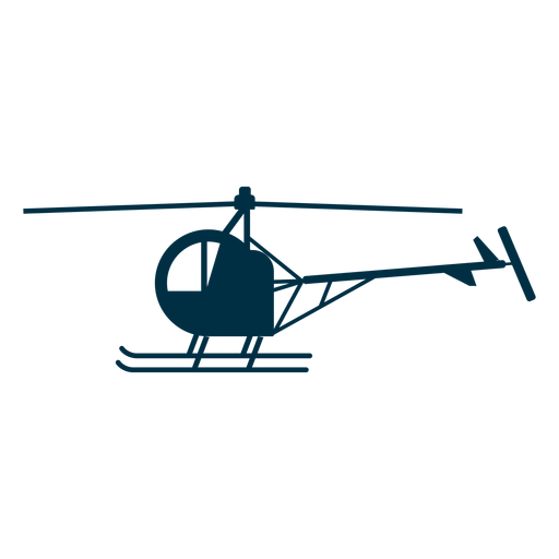 Single seat helicopter silhouette Transparent PNG