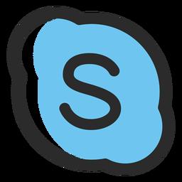 Icono de trazo de color de Skype