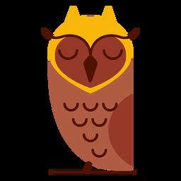 Ilustración de búho soñoliento