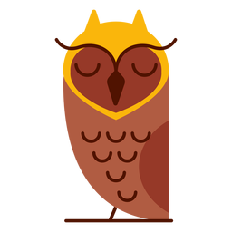 Sleepy owl illustration