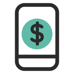Smartphone mobile banking icon