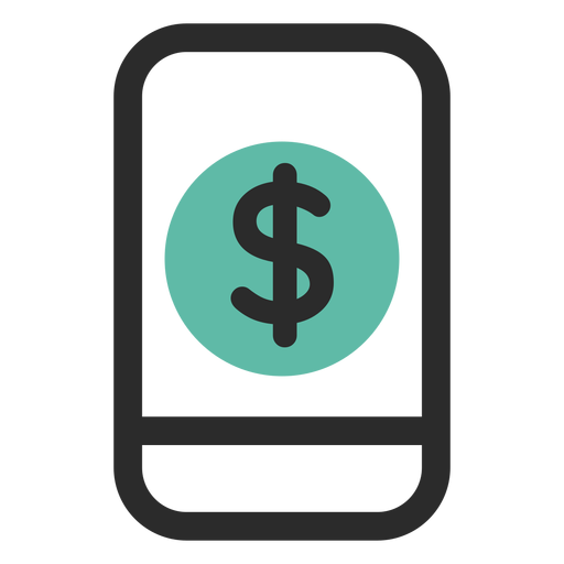 Smartphone mobile banking icon Transparent PNG