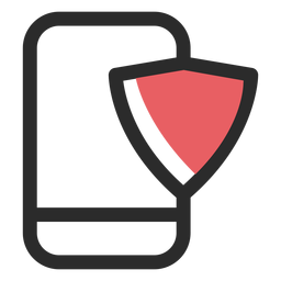 Smartphone security colored stroke icon