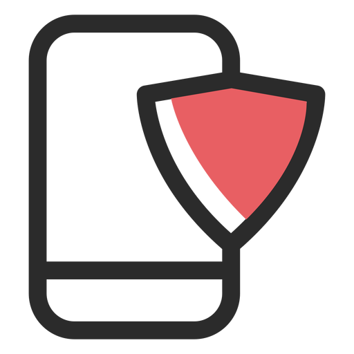 Smartphone security colored stroke icon Transparent PNG