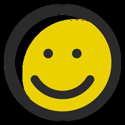 Sorriso colorido emoticon de traço