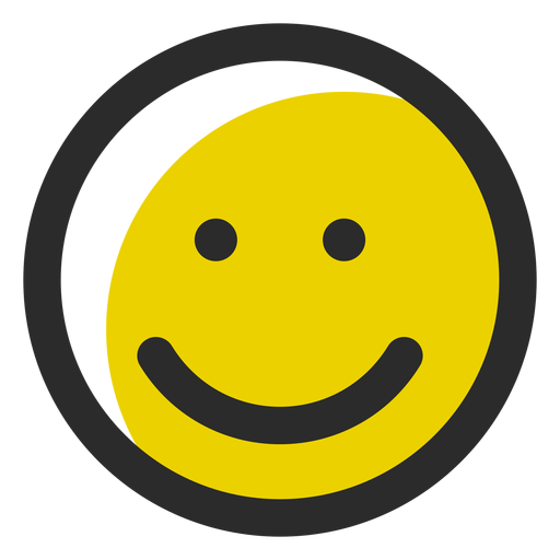 Smile colored stroke emoticon Transparent PNG