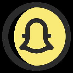 Icono de trazo de color Snapchat