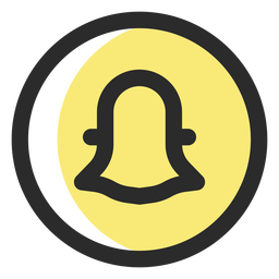 Snapchat colored stroke icon