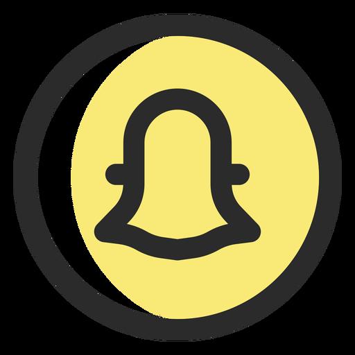 Icono de trazo de color Snapchat Transparent PNG