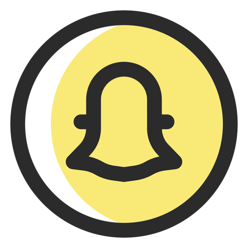 Snapchat colored stroke icon Transparent PNG