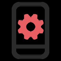 Configuración de Snartphone icono de trazo de color