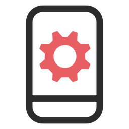 Ícone de traço colorido de configurações de snartphone