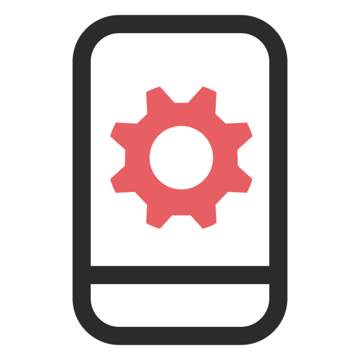 Configuración de Snartphone icono de trazo de color Transparent PNG