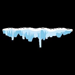 Schnee Eiszapfen Mütze Symbol