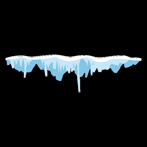 Ícone de tampão de sincelo de neve Transparent PNG