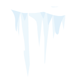 Snow icicle icon