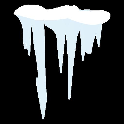 Ícone de pingente de neve Transparent PNG
