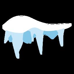Icono de gorro de carámbanos de nieve