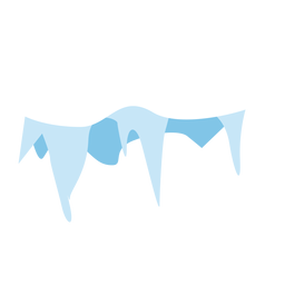 Snow icicles cap icon