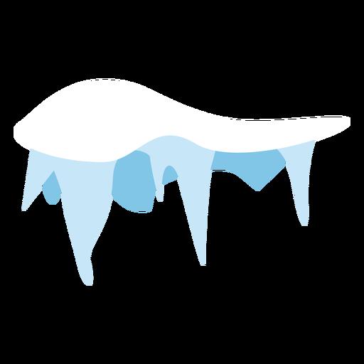 Icono de gorro de carámbanos de nieve Transparent PNG