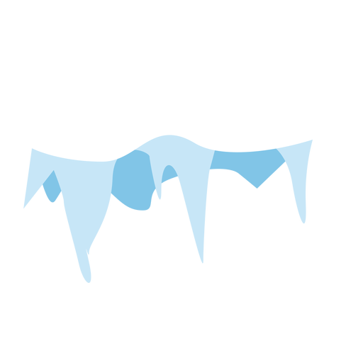 Snow icicles cap icon Transparent PNG