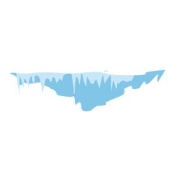 Snow icicles icon