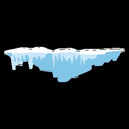 Snow icicles icon