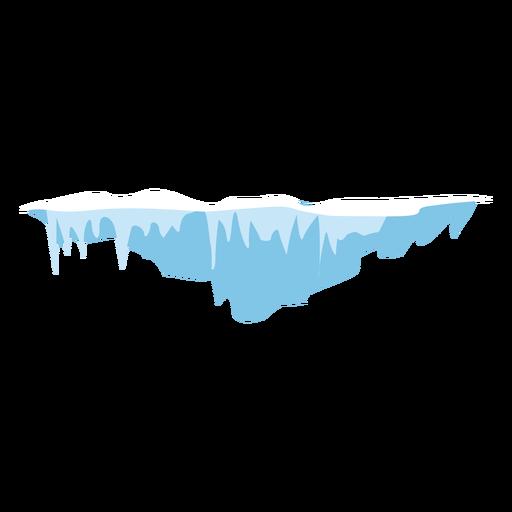 Ícone de pingentes de neve Transparent PNG
