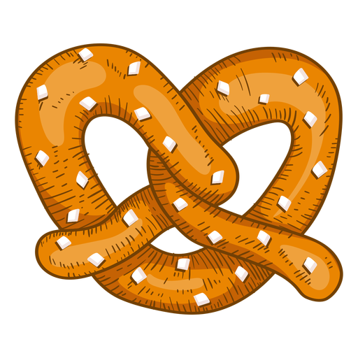 Dibujo de pretzel suave Transparent PNG