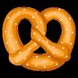 Ilustración de pretzel suave