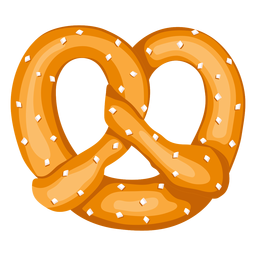 Soft pretzel illustration