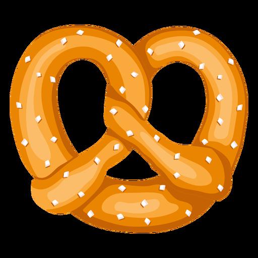 Ilustración de pretzel suave Transparent PNG