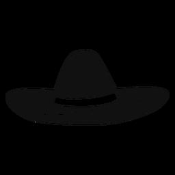 Sombrero-Hut flach Symbol