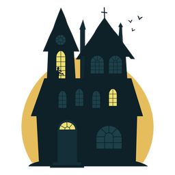 Casa embrujada espeluznante de Halloween