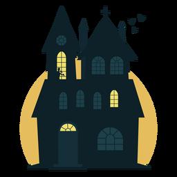 Espeluznante casa embrujada de halloween